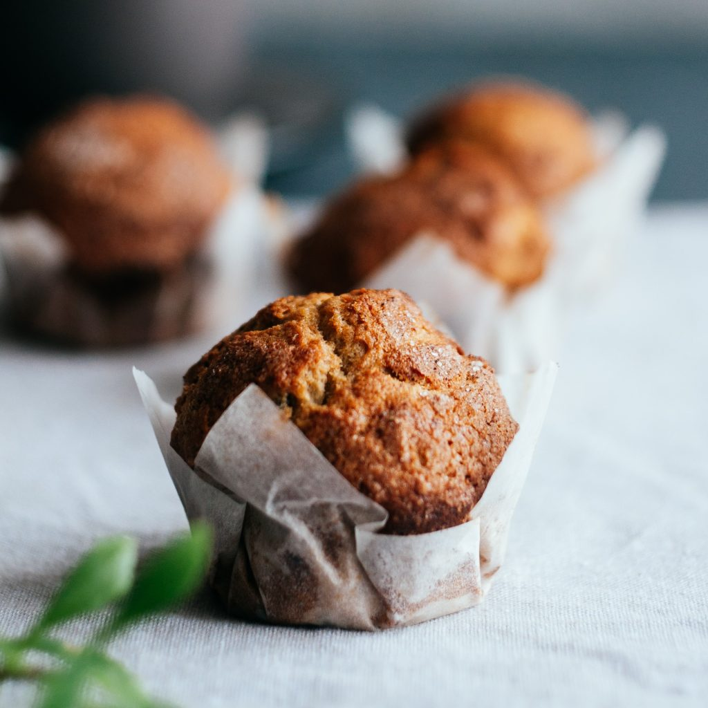 Muffins con corazón de mermelada